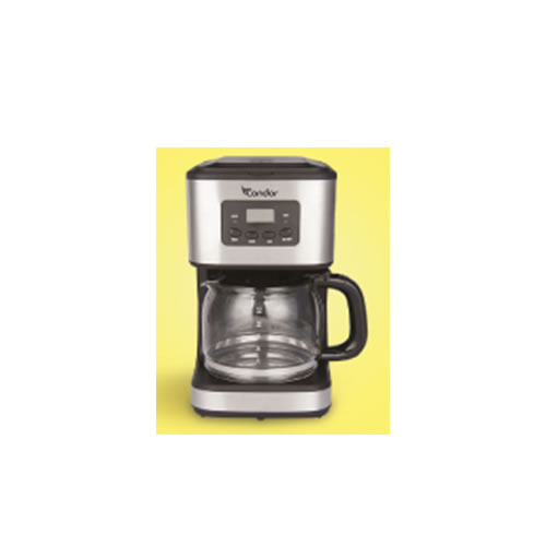 1.5Lt coffee machine with stainless steel display